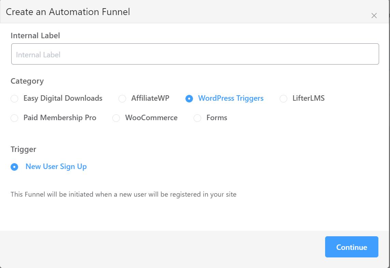 FluentCRM automation triggers