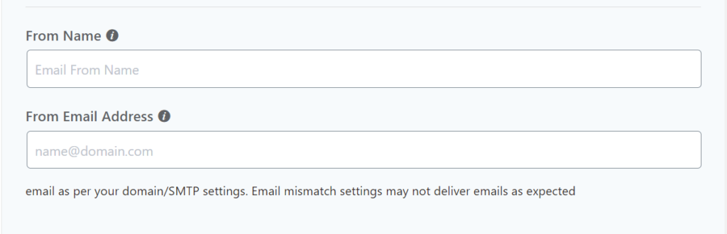 From Name & From Email Setting FluentCRM