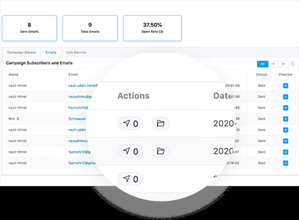 Email campaign insight, FluentCRM Link Metrics, FluentCRM