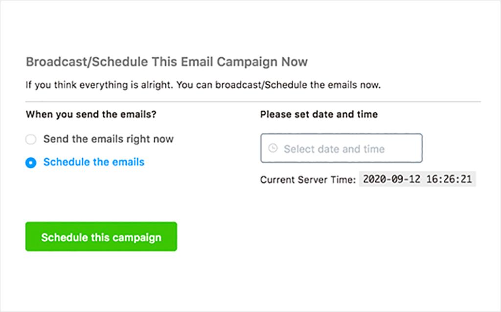 schedule email marketing