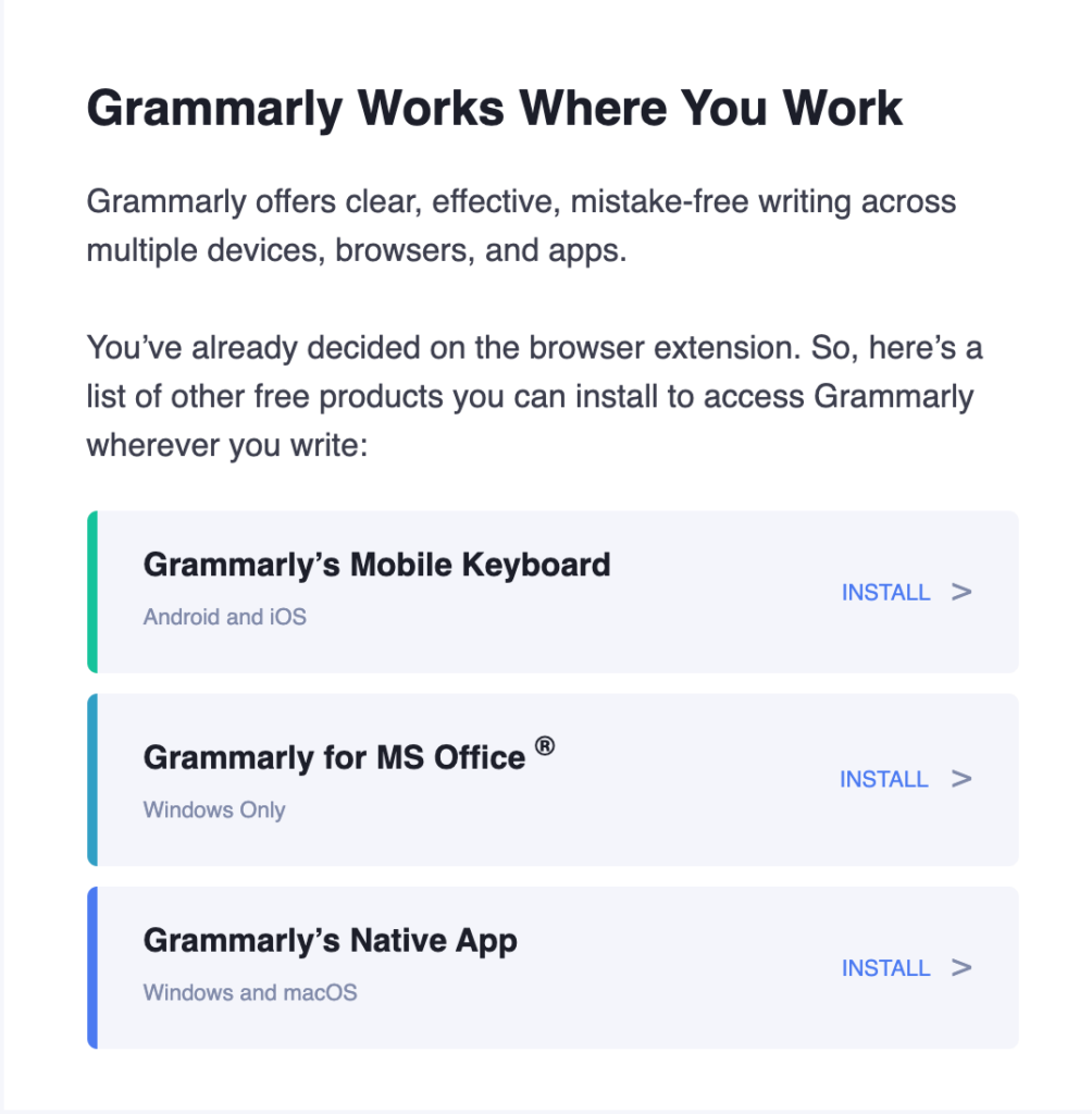 Grammarly email teardown, welcome email, email introductions