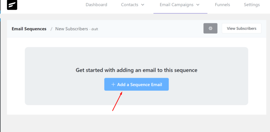 adding an email sequence in fluentcrm, fluentcrm email sequence