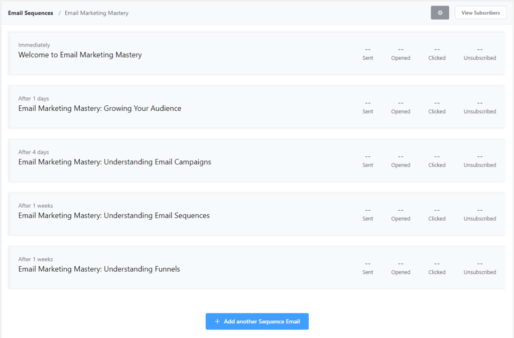 fluentcrm email sequence sample