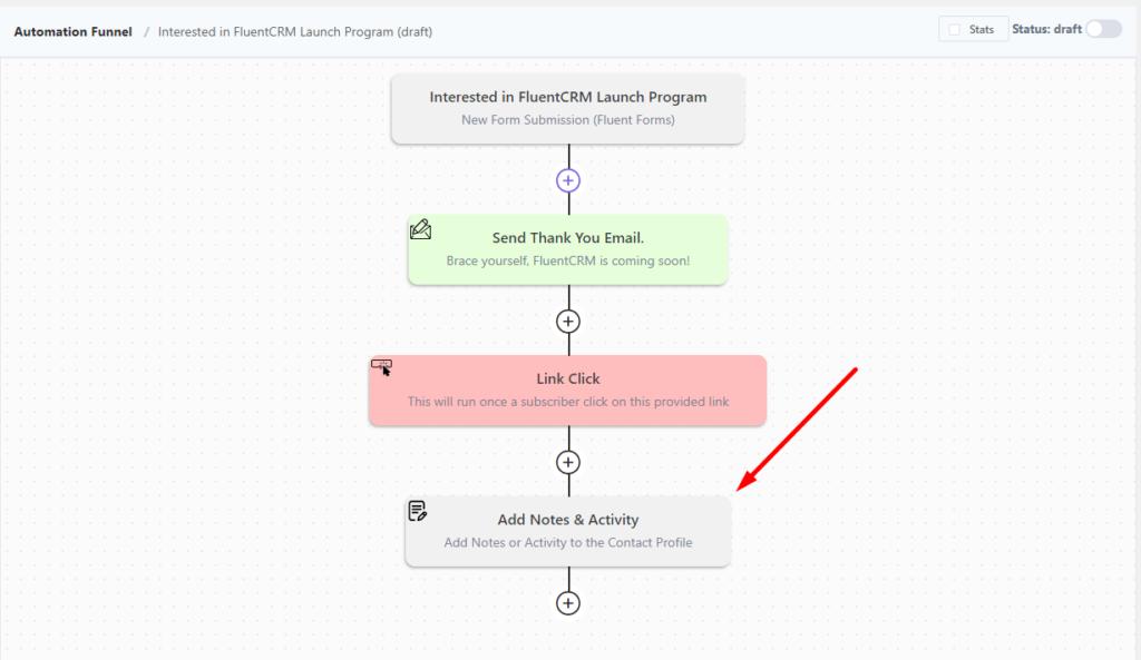 FluentCRM 2.0.2, FluentCRM automation, FluentCRM notes and activity automation