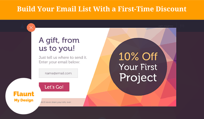discount offer, lead generation