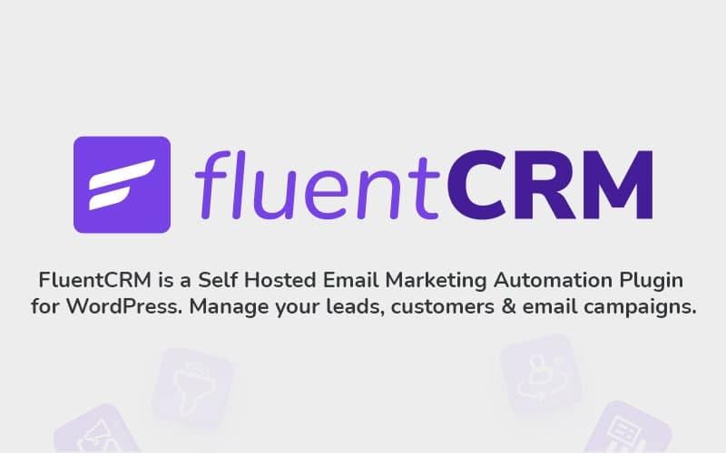 fluentcrm, woocommerce email marketing automation plugin