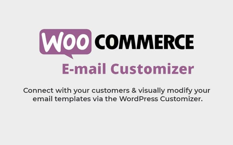 woocommerce email customizer, visual email editor